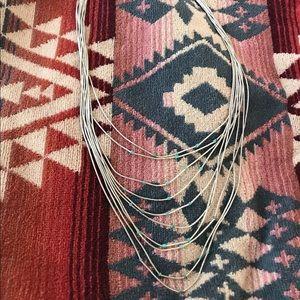 Liquid Silver Navajo Necklace